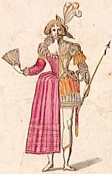 Costume d'hermaphrodite (fin du XVIe, début du XVIIe siècle)