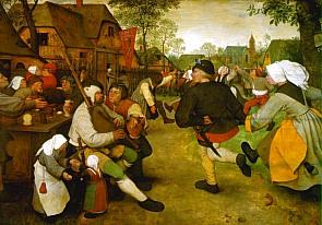 La danse paysanne, par Pieter Bruegel l'Ancien