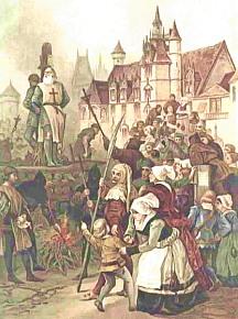 Jacques de Molay et Geoffroy de Charnay sont brûlés vifs sur le bûcher, le 18 mars 1314