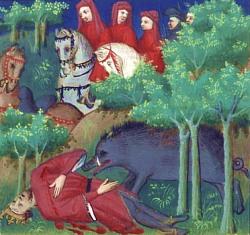 Mort de Philippe IV le Bel au cours d'une chasse au sanglier