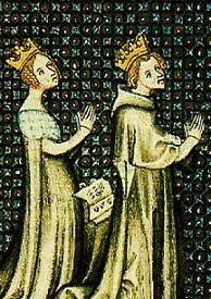 Aliénor d'Aquitaine et Louis VII priant pour avoir un enfant
