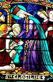 Sainte Clotilde assidue a l'aumone