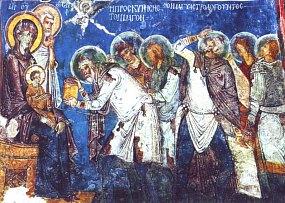 Fresque de Noël du XIIe siècle