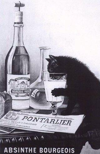 Réclame pour l'absinthe Bourgeois
