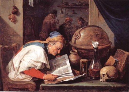 L'Alchimiste (1680), par David Teniers le Jeune (1610-1690)