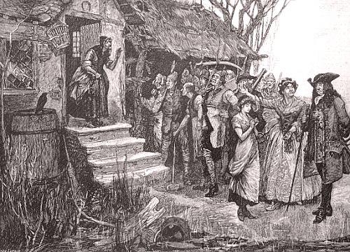 Arrestation d'une sorcière au XVIIe siècle