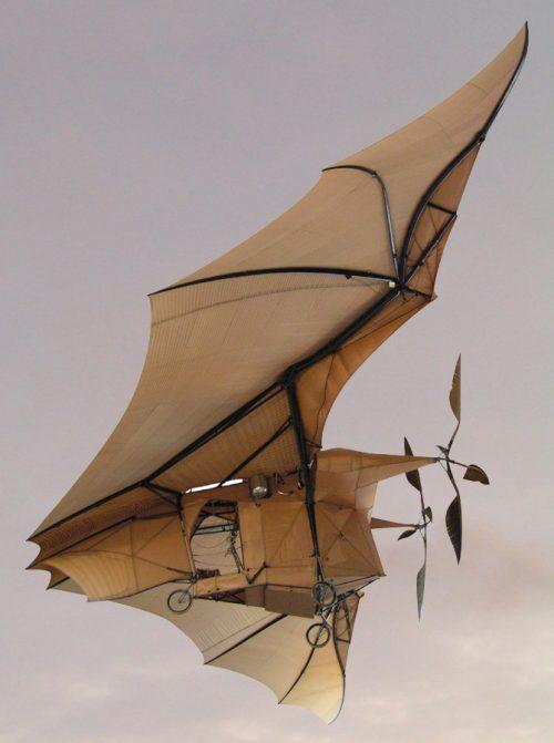 L'Avion : troisième aéroplane de Clément Ader, qu'il fit voler en 1890