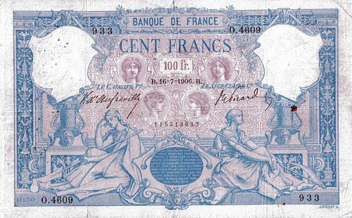 Billet de cent francs de 1888