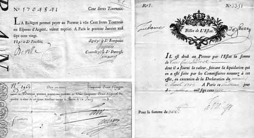 Billet de la Banque royale à l'époque de John Law