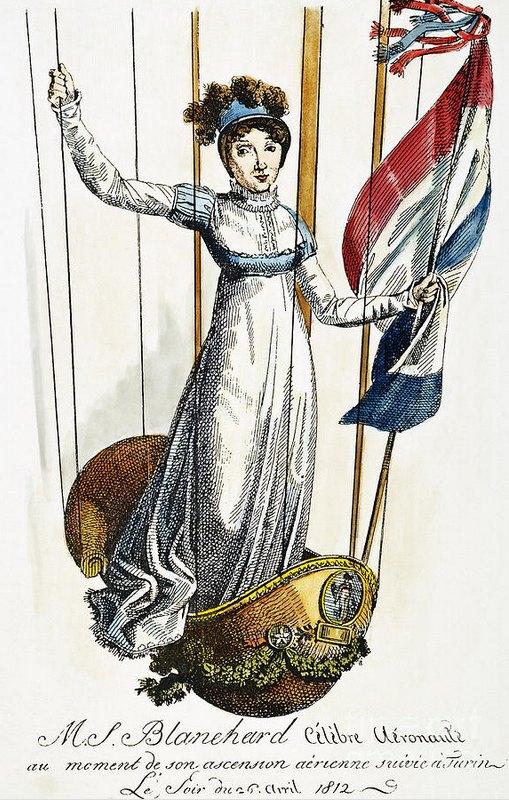 Sophie Blanchard lors de son vol à Turin, le 26 avril 1812