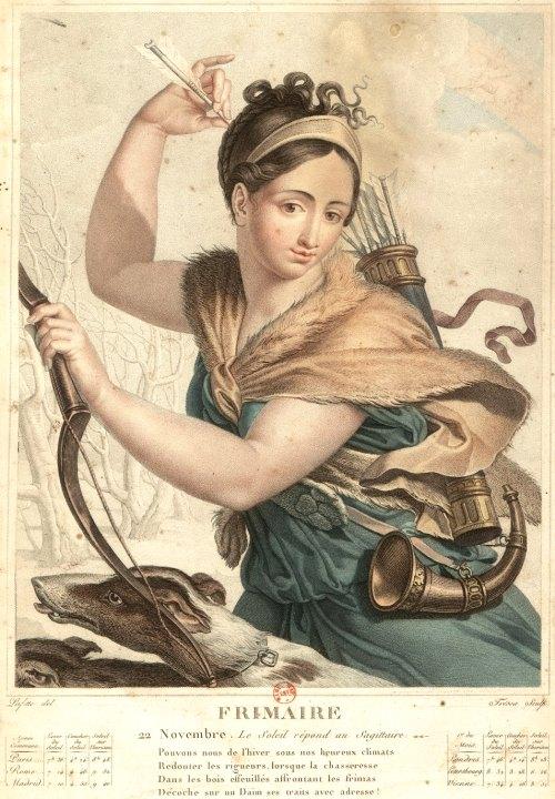 Calendrier Republicain 1793.24 Novembre 1793 Decret Instaurant L Usage Du Calendrier
