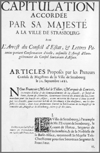 Capitulation de Strasbourg