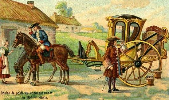 Voyages et routes d 39 autrefois ou l 39 loge de la lenteur for Chaise de poste