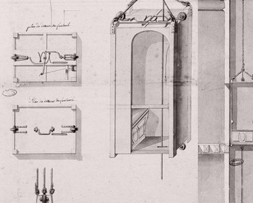 Premier ascenseur du ch teau de versailles chaise volante for Chaise volante