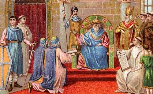 HISTOIRE ABRÉGÉE DE L'ÉGLISE - PAR M. LHOMOND – France - année 1818 (avec images et cartes) Charlemagne-2