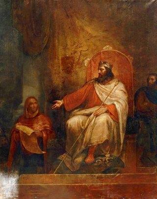 Charlemagne présente ses premiers Capitulaires