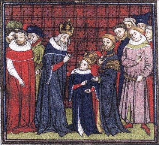 Charlemagne et son fils Louis le Pieux