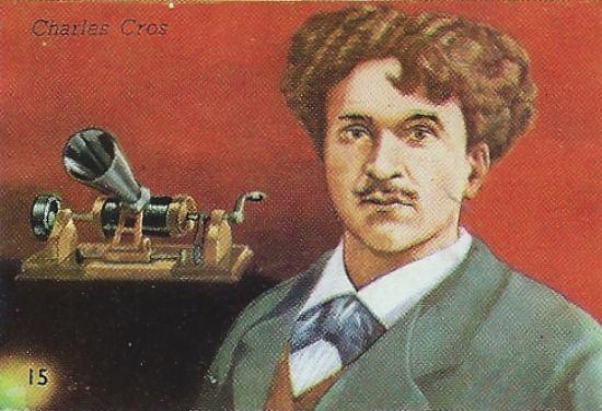 Charles Cros, inventeur du phonographe. Chromolithographie du XXe siècle