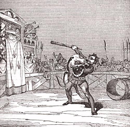 Combat du chevalier Macaire et du Chien de Montargis