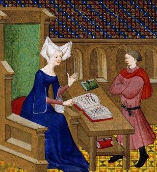 Christine de Pisan instruisant son fils