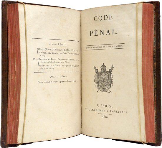 3 juin 1810 promulgation du code p nal par napol on - Coups et blessures volontaires code penal ...