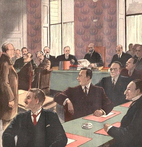 Une séance de la Commission d'enquête de l'affaire Stavisky
