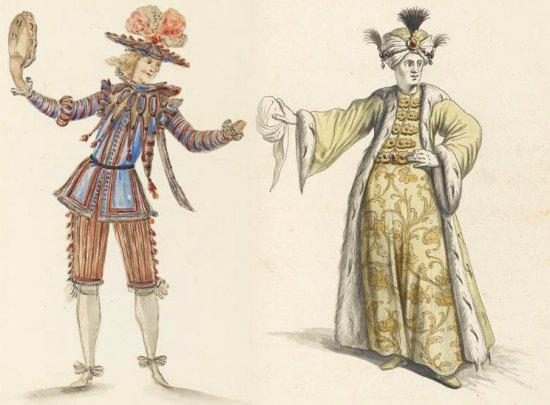 Costumes de théâtre du XVIIe siècle