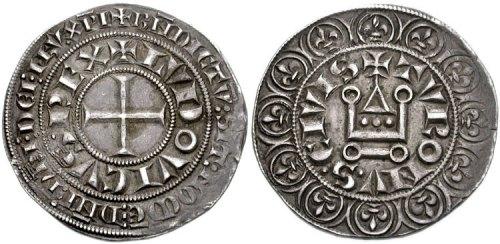 Gros tournois : monnaie d'argent créée par saint Louis lors de sa réforme monétaire (1260)