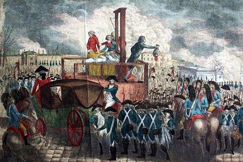 Décapitation de Louis XVI le 21 janvier 1793