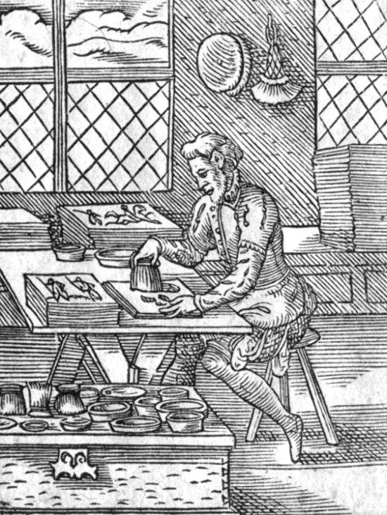 Métier d'autrefois: Des artisans copistes aux imprimeurs : histoire d'une âpre et longue lutte Enlumineur