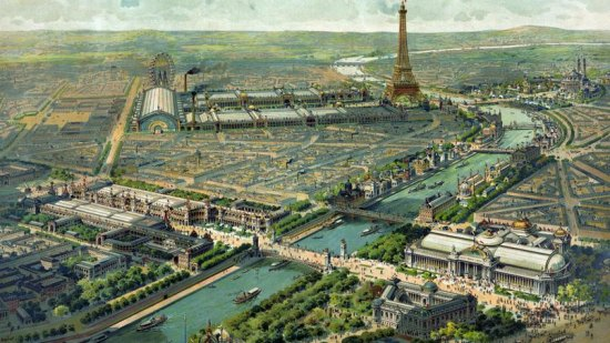 Vue panoramique de l'Exposition universelle de Paris en 1900