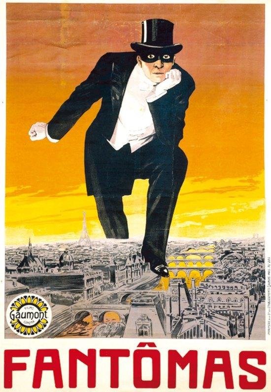 Affiche de lancement de la série des Fantômas (1913)