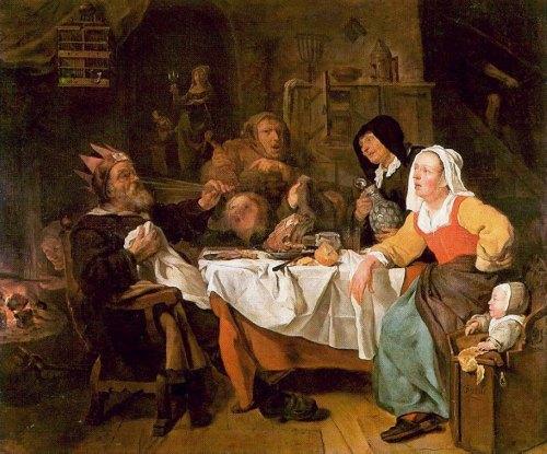 La Fête des Rois. Peinture de Gabriel Metsu