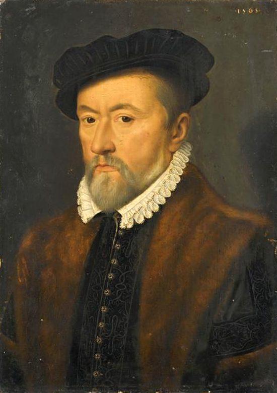 Gaspard de Coligny en 1565. Peinture de Marc Duval