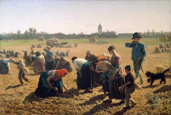 Les Glaneurs. Peinture de Jules Breton (1854)