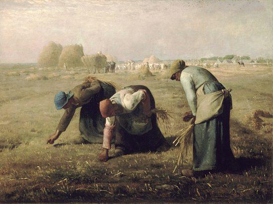 Des glaneuses. Peinture de Jean-François Millet (1857)