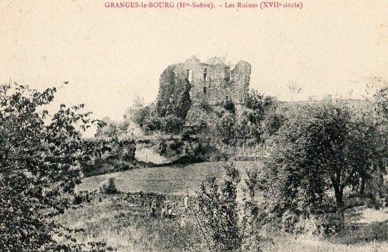 Ruines du château de Granges-le-Bourg au XVIIe siècle