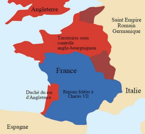 La France sous occupation anglaise entre 1420 et 1435