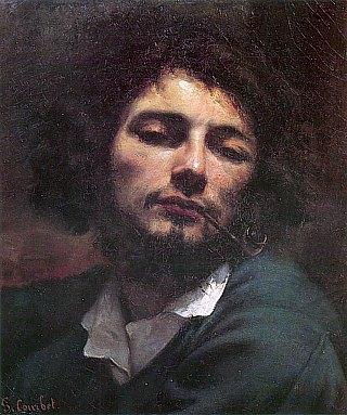 Autoportrait dit Le Fumeur de pipe, par Gustave Courbet