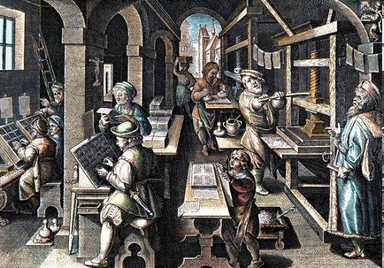 Métier d'autrefois: Des artisans copistes aux imprimeurs : histoire d'une âpre et longue lutte Imprimerie-XVIe
