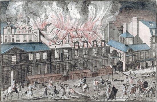 Incendie de la salle de l'Opéra de Paris le 6 avril 1763