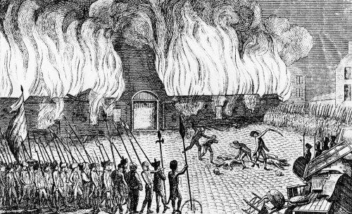 Incendie de la caserne de la garde suisse le 10 août 1792