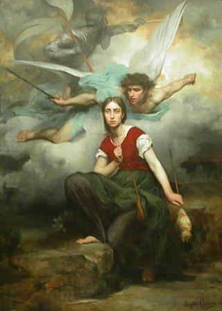 Jeanne d'Arc ayant la vision de l'archange saint Michel