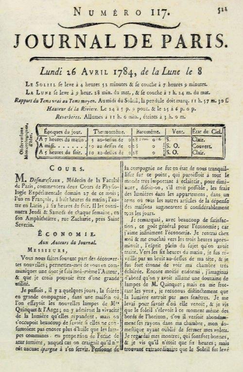 Origine de l 39 heure d 39 t id e de benjamin franklin en 1784 changeme - Le journal du pays d auge ...