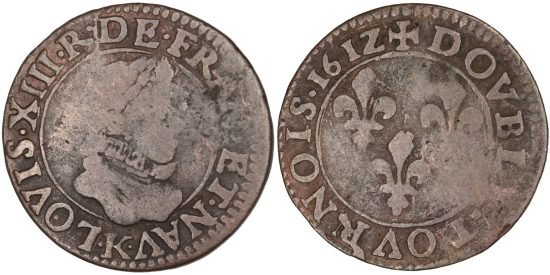 Louis XIII : double tournois de 1612