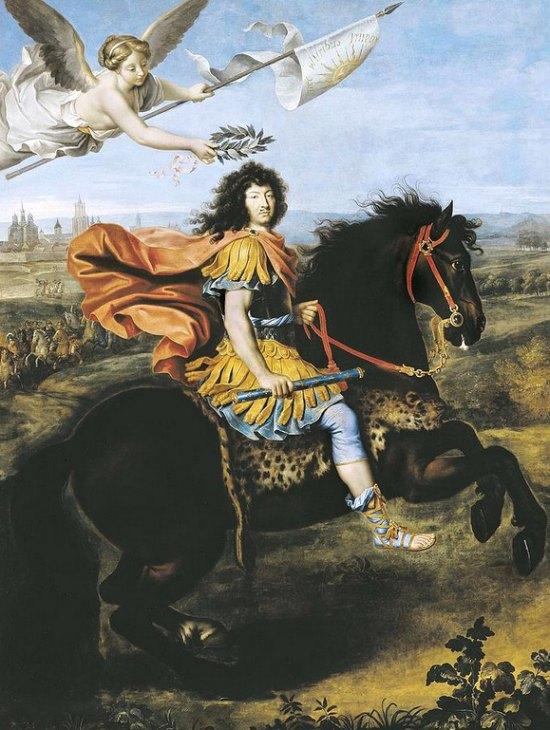 Portrait équestre de Louis XIV, par Pierre Mignard (1674)