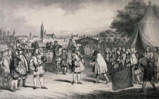 Réception de Louis XIV par le magistrat de Strasbourg en 1681