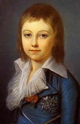 Louis XVII à l'âge de 8 ans. Peinture d'Alexandre Kurchaski