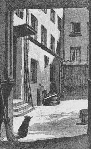 Cour de la maison Duplay où vécut Robespierre