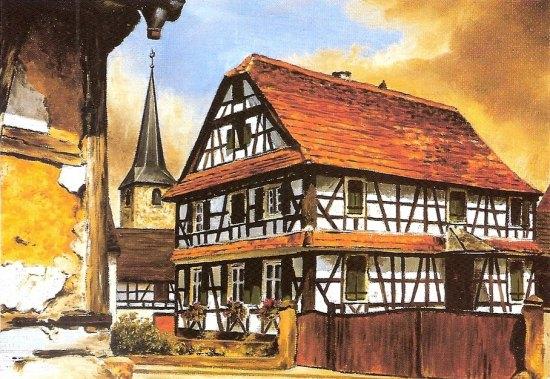 Les maisons colombages d 39 alsace en p ril histoire - Maison a colombage alsacienne ...
